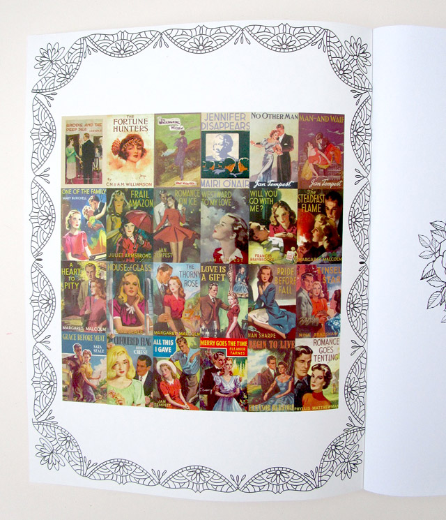 Mills & Boon Book Covers Colouring Book