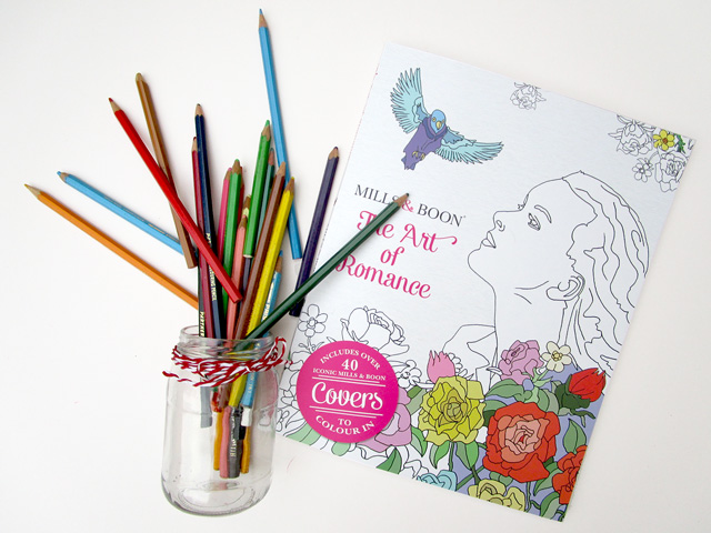 Mills & Boon colouring book