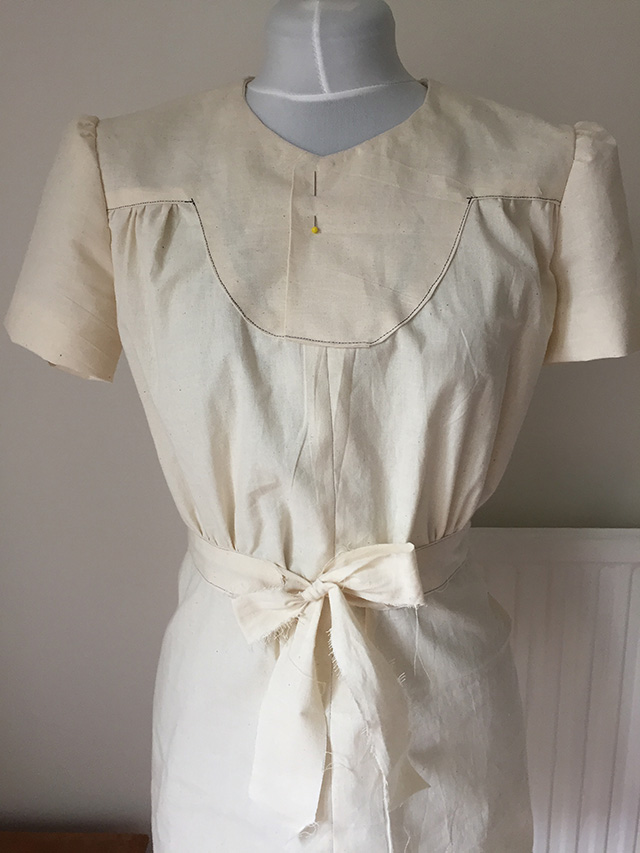 Second Toile of Yellow Dress