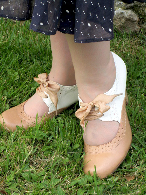 Sylvia Shoes in Nude & White