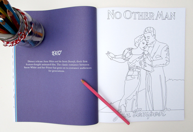 Vintage Mills & Boon Colouring Book