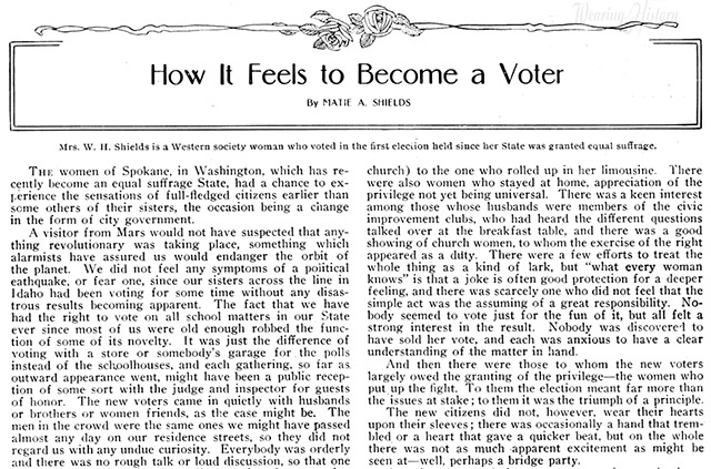 How It Feels To Become A Woman Voter- 1911