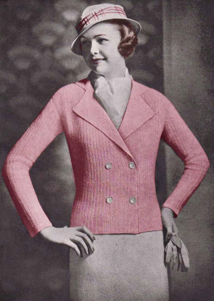 1930s crochet cardigan