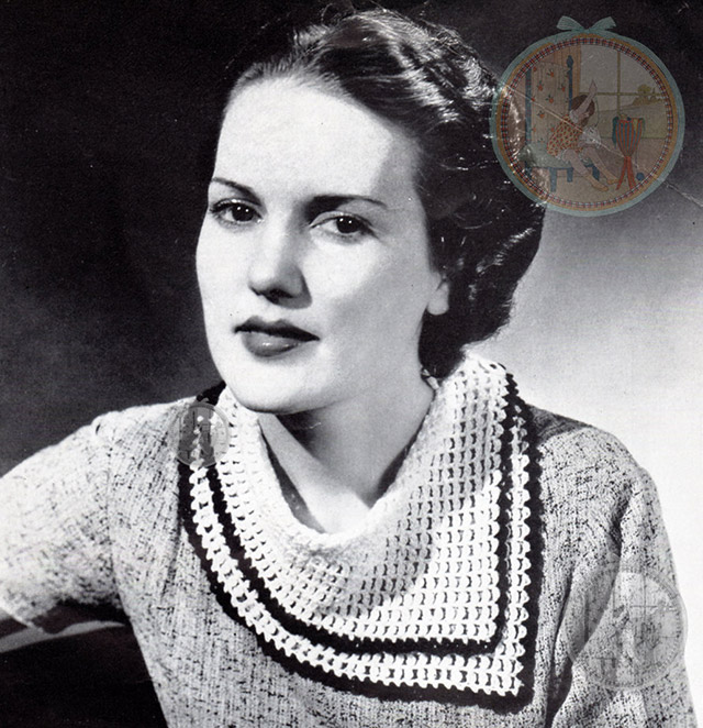 1930s crochet collar scarf
