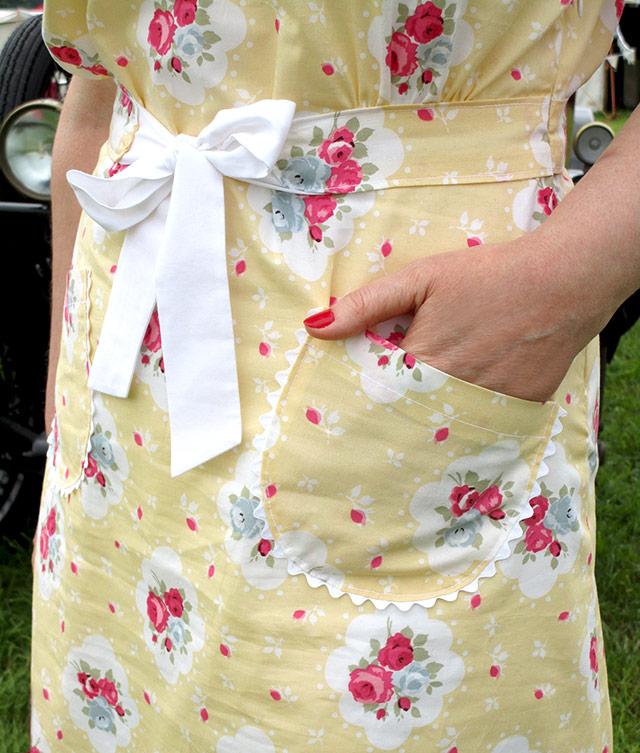 1930s dress pocket detail