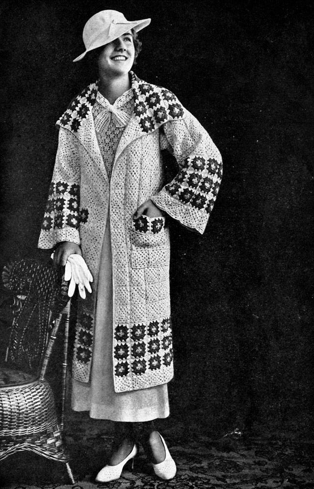 1930s Granny square coat