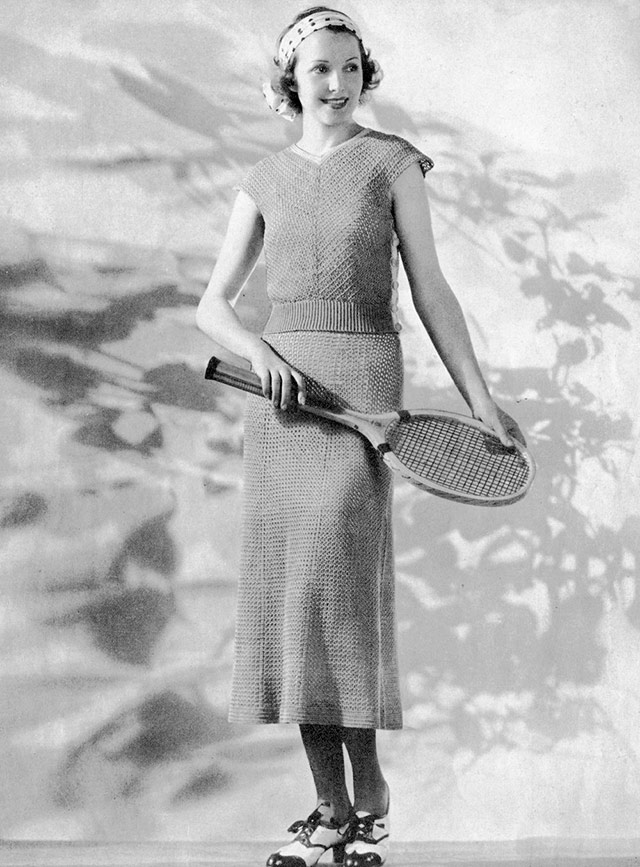 1930s tennis top skirt