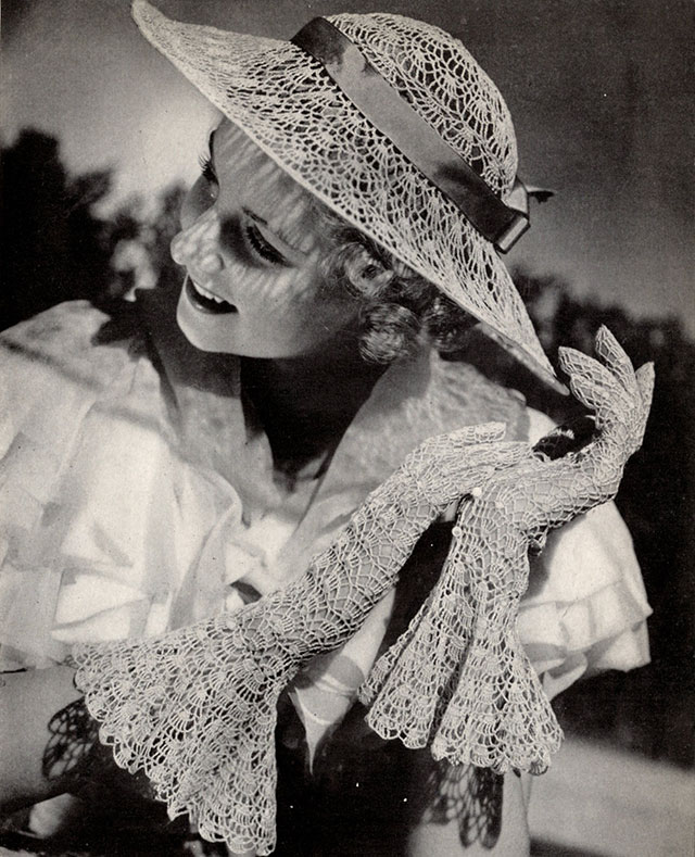 1930s wide brim hat crochet