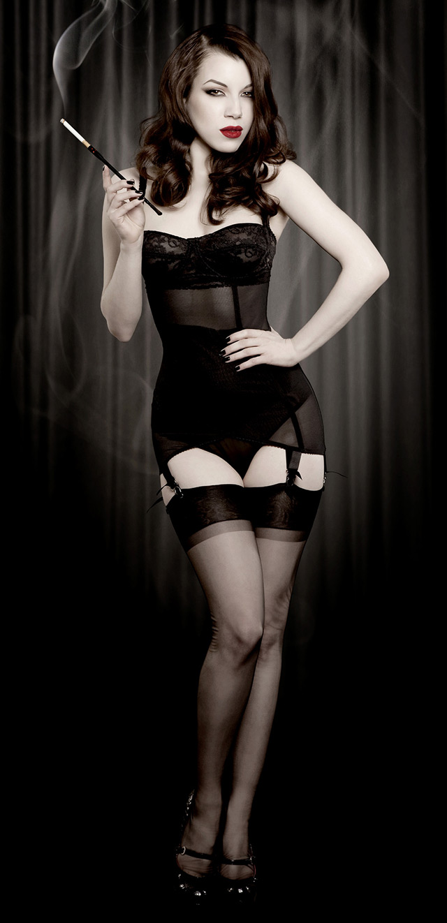 Kiss Me Deadly Black Vargas Dress Shapewear