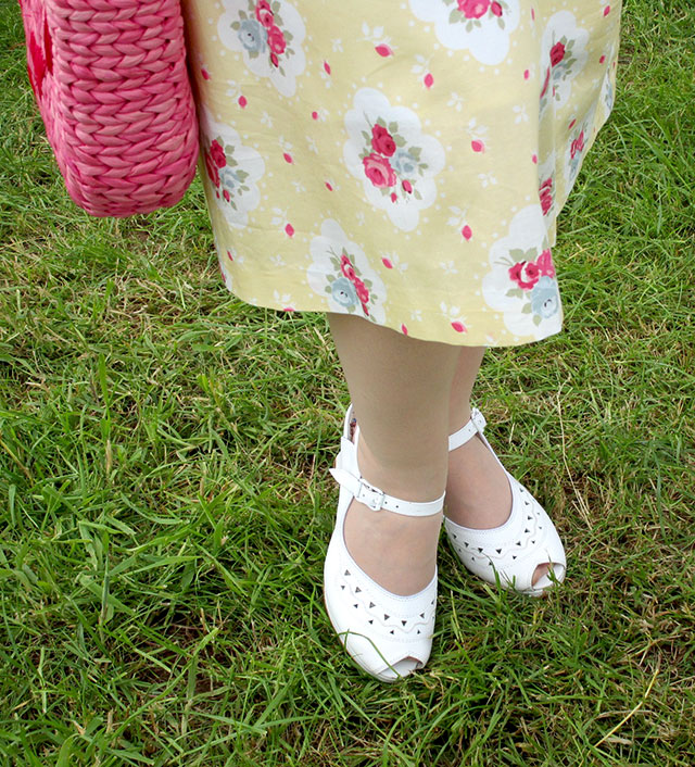 Miss L Fire Betty Shoes in white