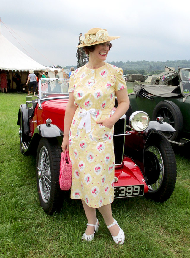 Yellow Floral 1930s Dress