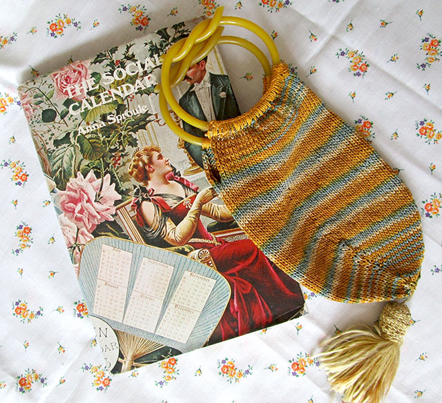 1920s bag and social calendar book