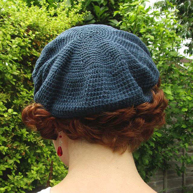 1930s crochet beret