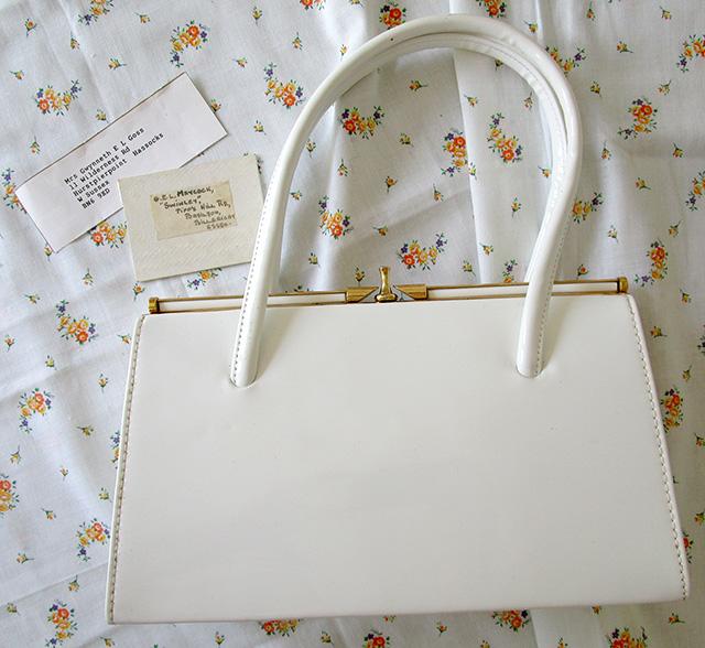 1960s white bag