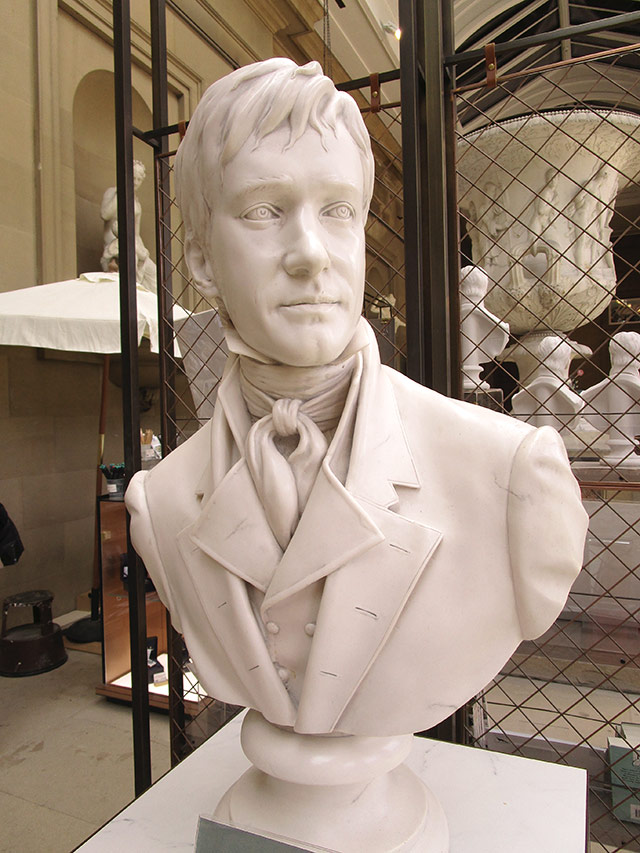 Mr Darcy marble bust