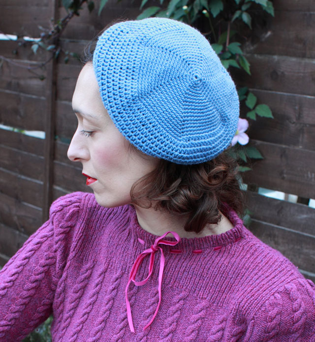 A 1930s Crochet Beret My First Ever Me Made Crochet Garment