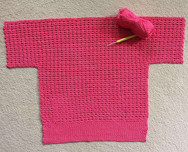 1930s crochet jumper front
