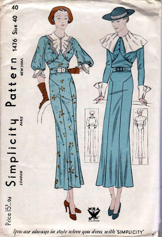 1930s dress simplicity 1476