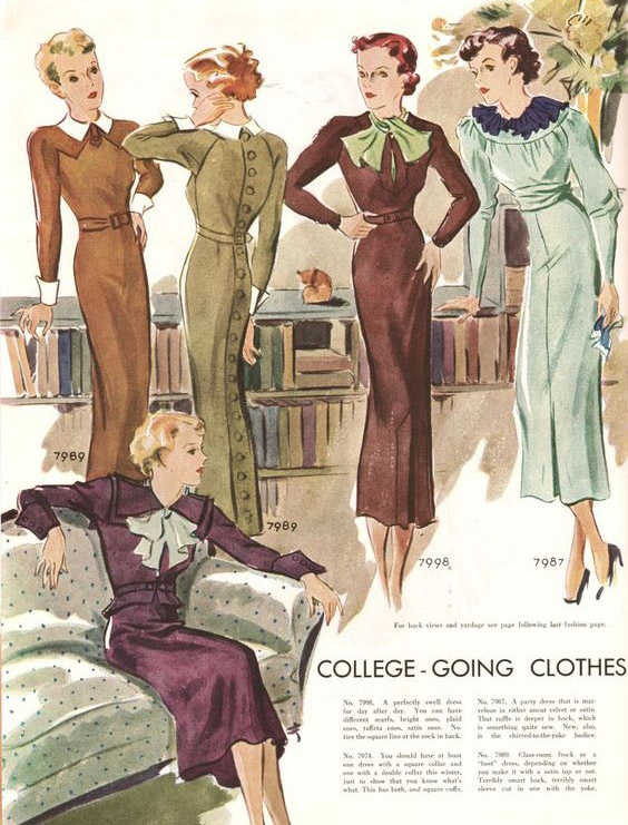 1930s long sleeve dresses