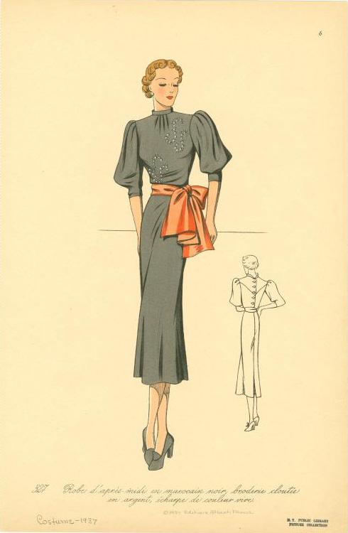 1937 bell sleeves