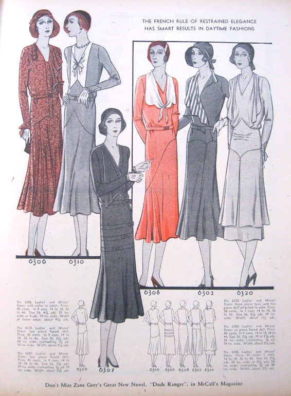 Early 1930s winter dresses