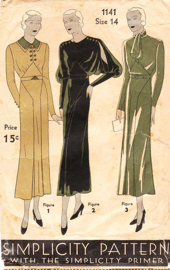 Simplicity dress pattern 1932
