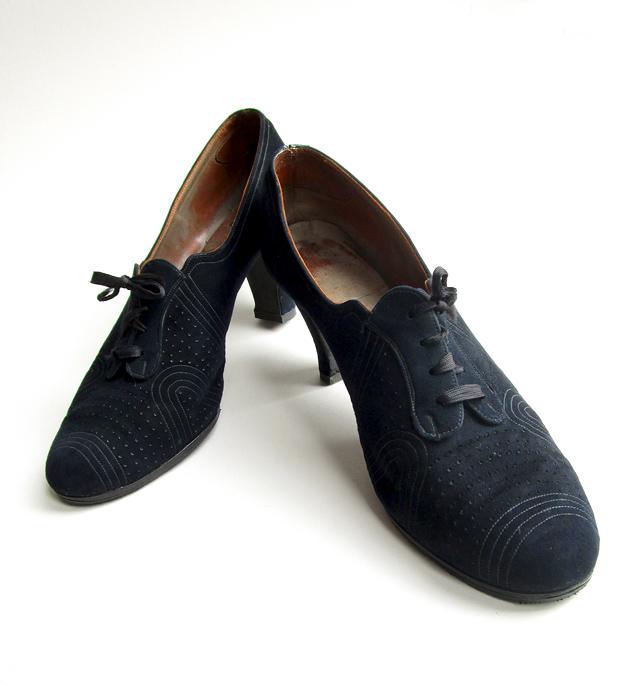 1930s blue suede shoes