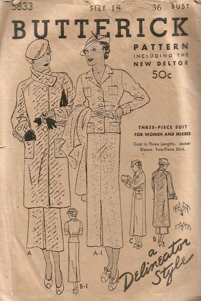 1930s Butterick 5833