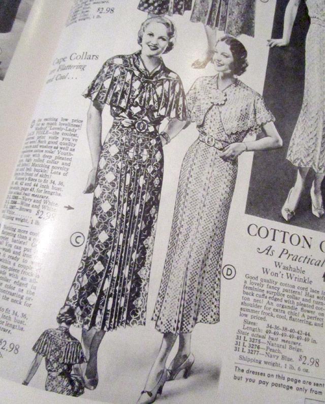 1930s cape dresses