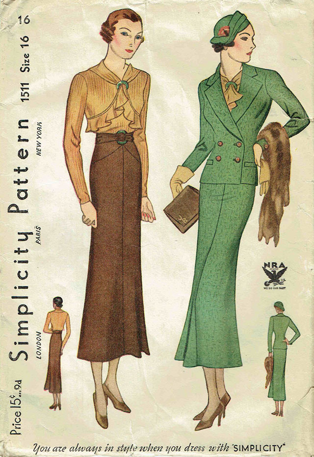 1930s Simplicity 1511 NRA