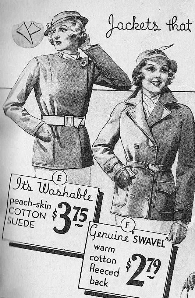 1934 Sears Women's Jackets
