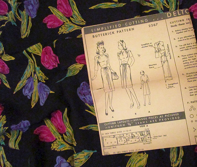 1940s dress sewing pattern