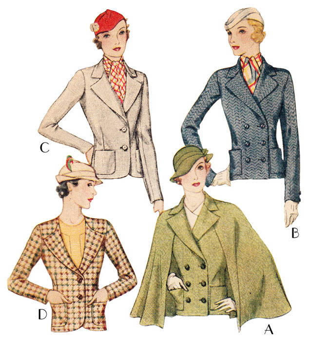 Mrs Depew 1930s jackets pattern