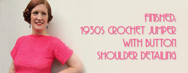 1930s Crochet Jumper