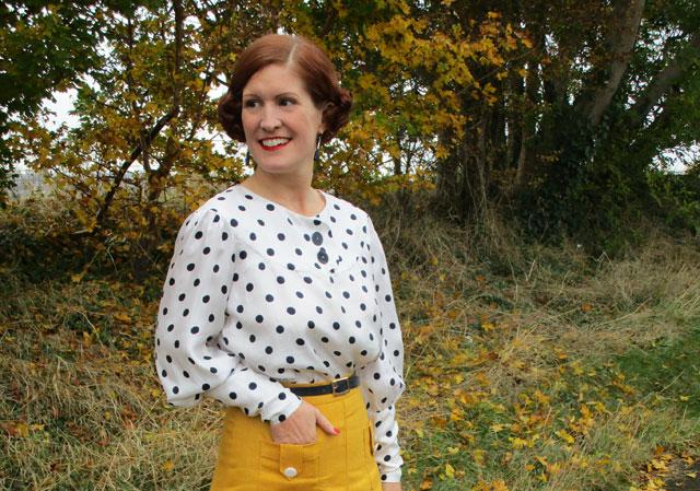 1930s polka dot blouse