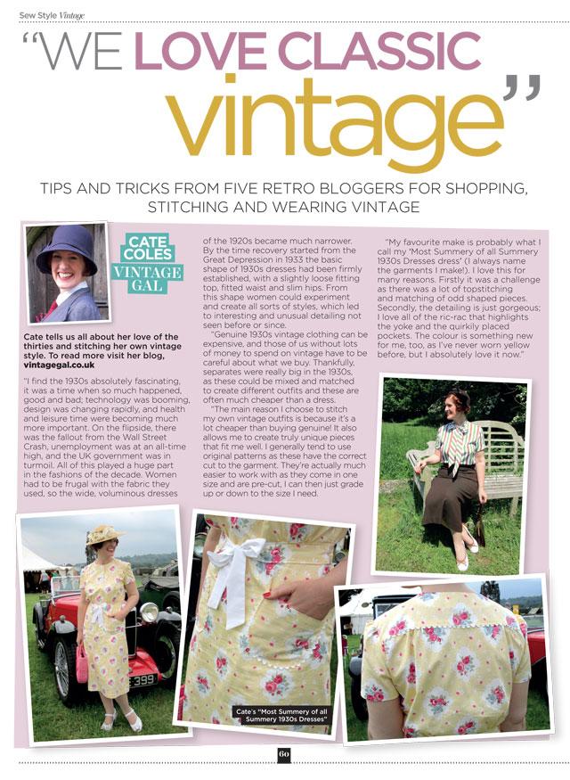 Sew Style Vintage magazine