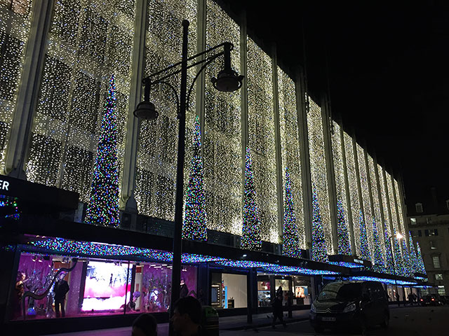 House of Fraser lights