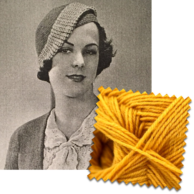 1930s beret in mustard