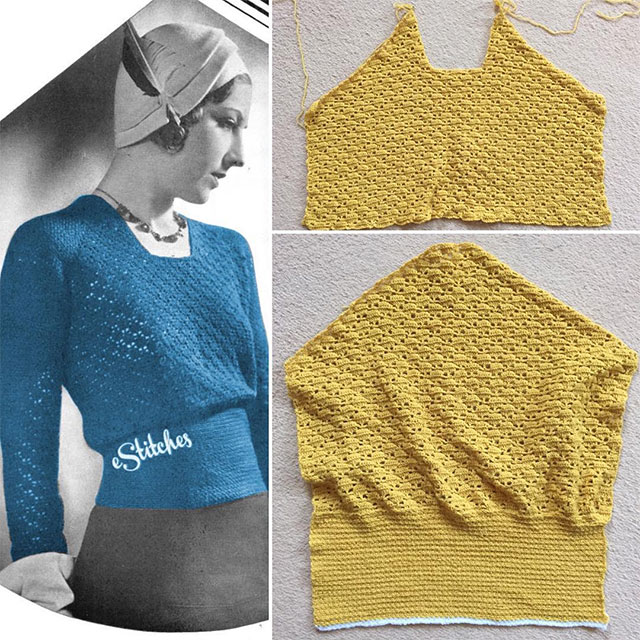 1930s crochet jumper