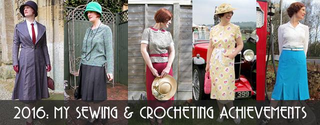 My 2016 vintage sewing & crocheting