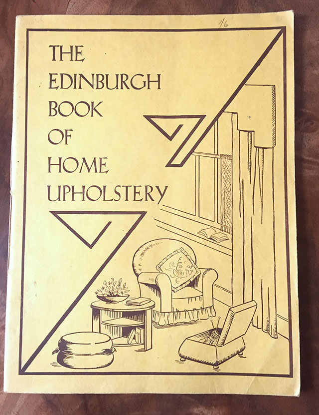 Edinburgh book of home upholstery, 1937
