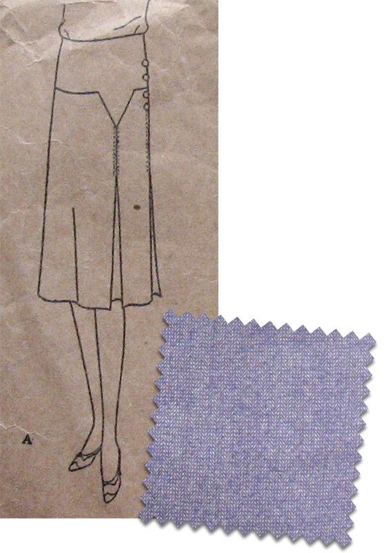 Late 1920s purple skirt