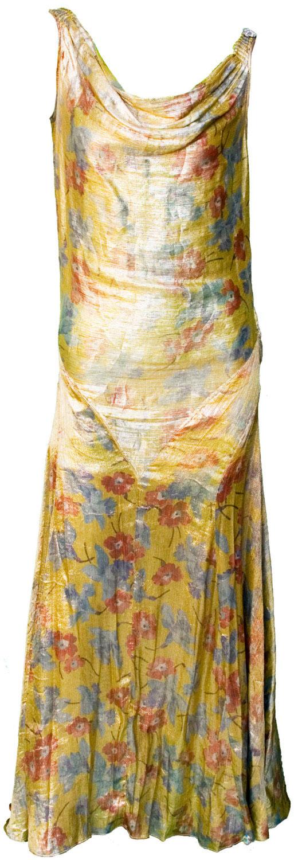 1920s gold lame dress