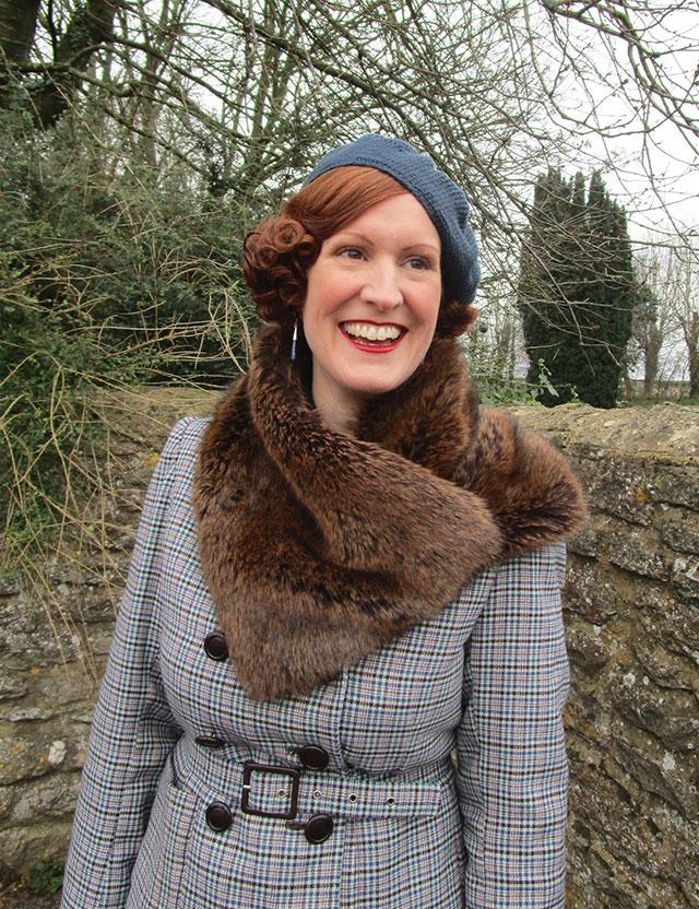 1930s faux fur scarf