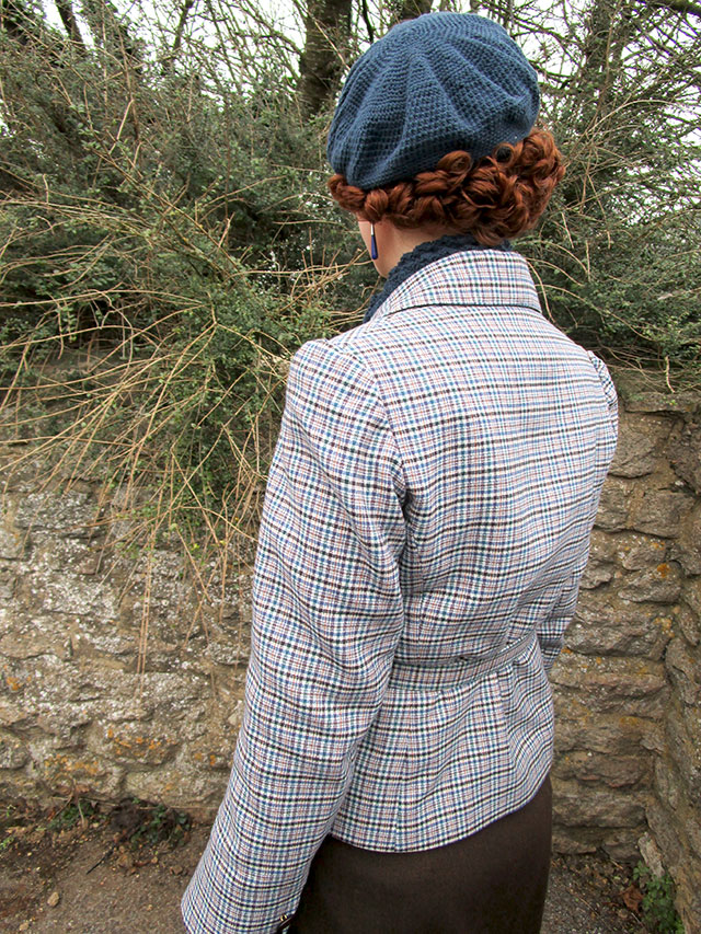 1930s plaid jacket back