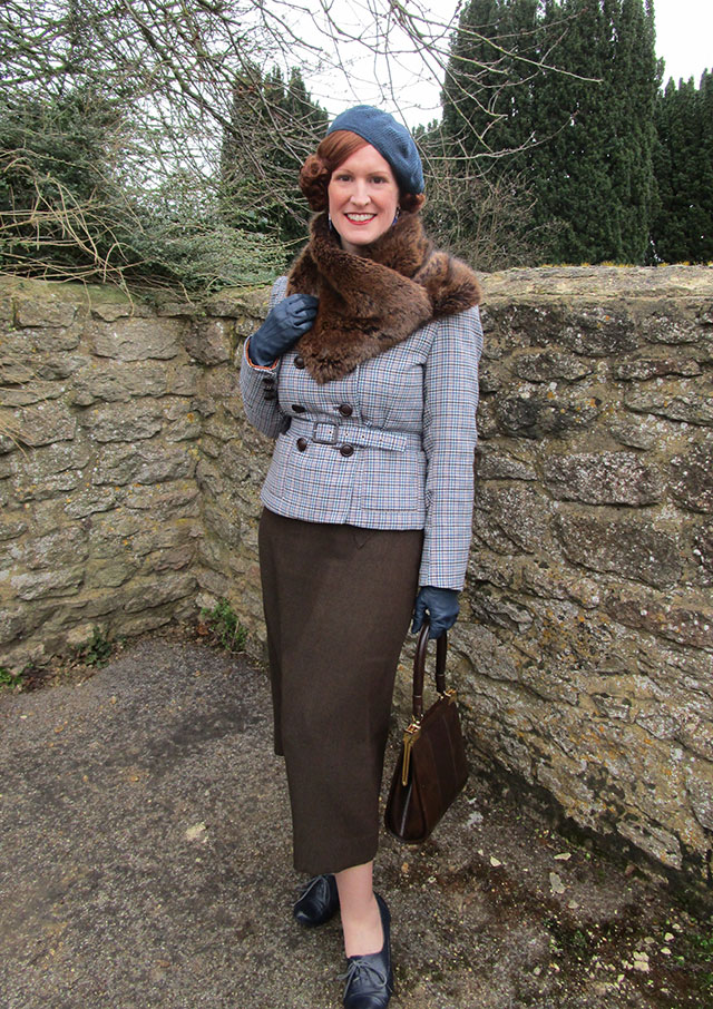 1930s winter outfit