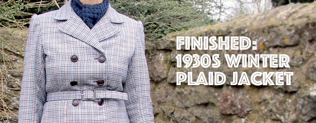 1930s winter plaid jacket
