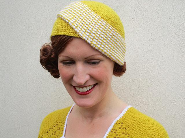 1930s crochet hat - front