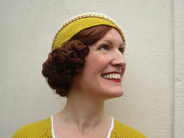 1930s crochet hat - side
