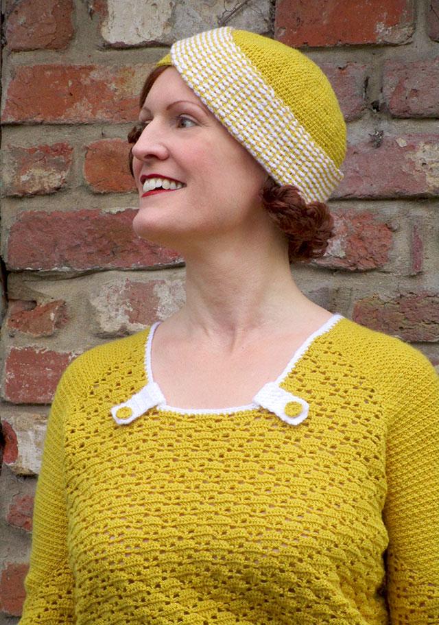 1930s crochet jumper neckline